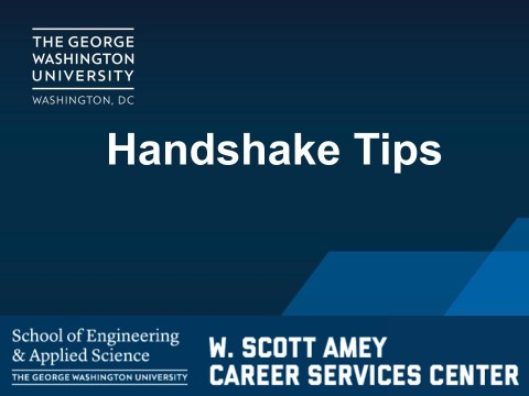 Handshake Tips (VIDEO)