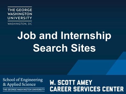 Job & Internship Search Sites (VIDEO)
