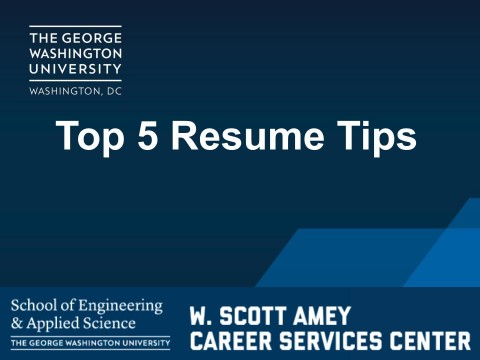Top 5 Resume Tips (VIDEO)