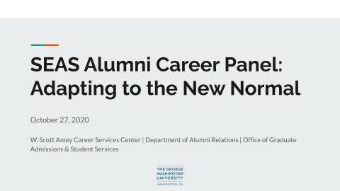 Alumni Panel Fall 2020