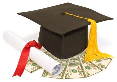 Grad Cap w Money-Diploma