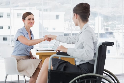 Disabled-woman-attending-interview