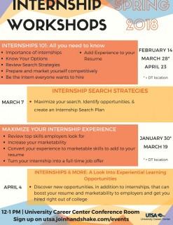 Internship workshops