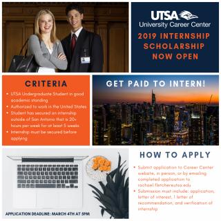 Internship Scholarship 2019