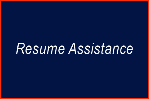 Resume & Cover Letter Assistance