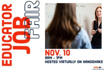 UTSA Fall 2020 Educator Virtual Job Fair