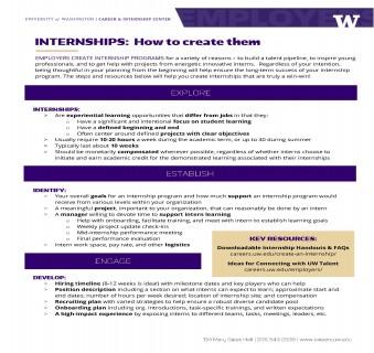 Internships – How to Create Them
