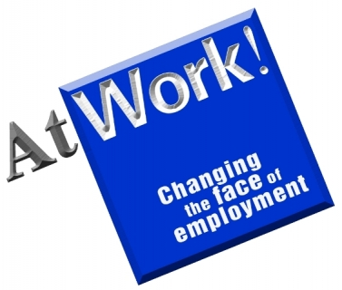 AtWorjk! Logo. Changing the Face of Employment