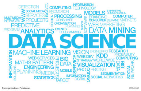 Data science words text tag cloud