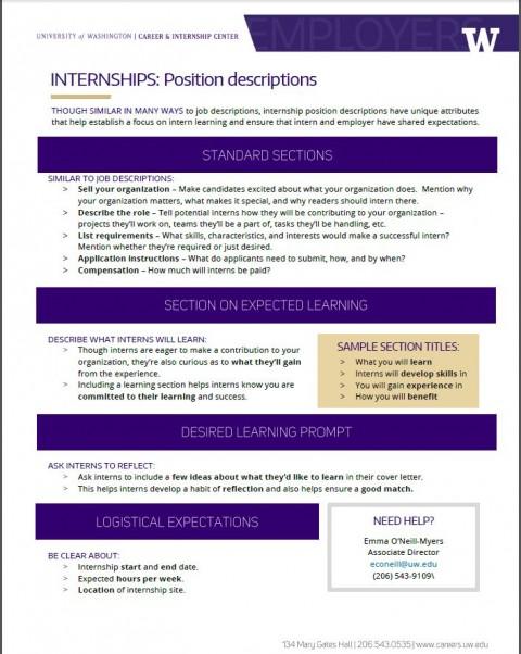 Internships – Position Descriptions