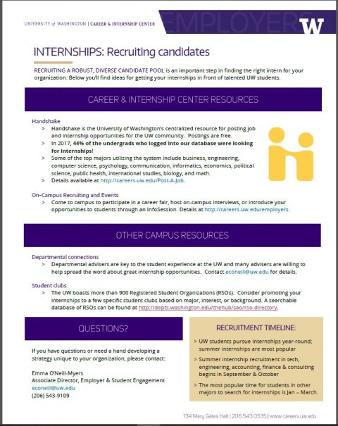Internships – Recruiting Candidates