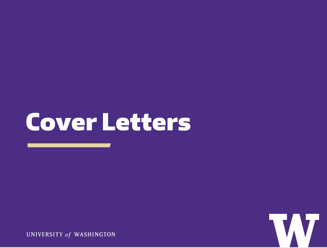 Getting started with cover letters – Career & Internship ...
