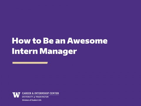 How to Be an Awesome Intern Manager