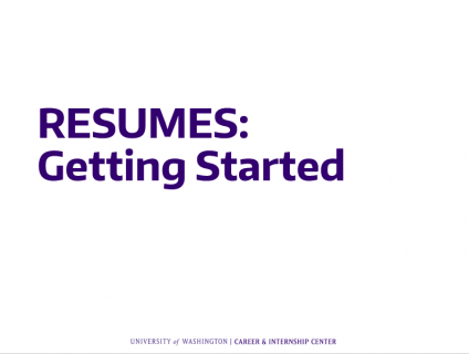 resumes getting started