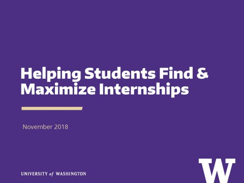 Helping Students Find & Maximize Internships