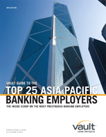 Vault Guide to the Top Banking Employers, Asia Pacific Edition