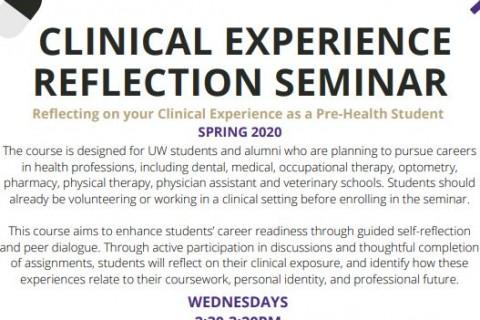 GEN ST 343 Clinical Expereince Reflection Seminar SPR2020
