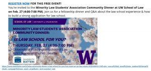 UW Law Minority Law Students' Association Community Dinner thumbnail image