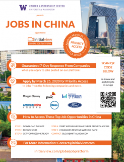 Jobs in China – UW