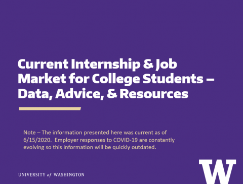 Current Internship & Job Market for College Students – Data, Advice, & Resources (6/15/2020)