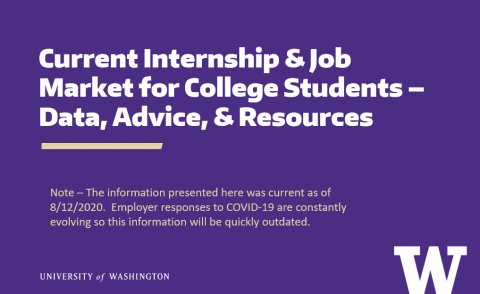 Current Internship & Job Market for College Students – Data, Advice, & Resources (8/12/2020)