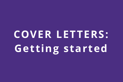 Cover Letters: Getting Started