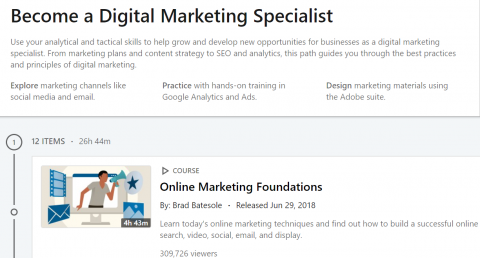 LinkedIn Learning Path – Become a Digital Marketing Specialist