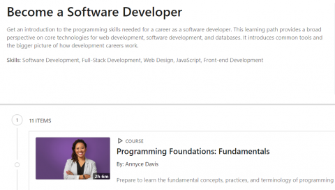 LinkedIn Learning Path – Become a Software Developer