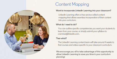 Request Content Mapping Help From LinkedIn Learning Team
