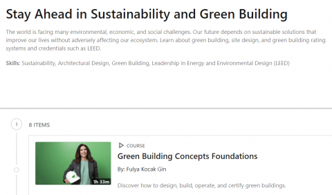 LinkedIn Learning – Stay Ahead in Sustainability & Green Building