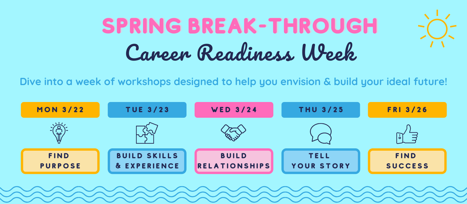Spring Break-Through: Career Readiness Week header image