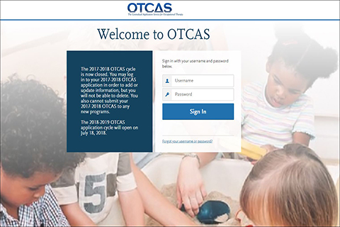 Occupational Therapy Centralized Service (OTCAS)