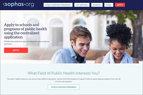 Schools of Public Health Application Service (SOPHAS)