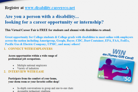 disabilitie career fair