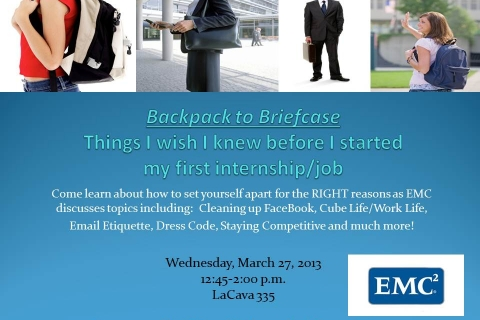 Backpack to Briefcase- by EMC ce