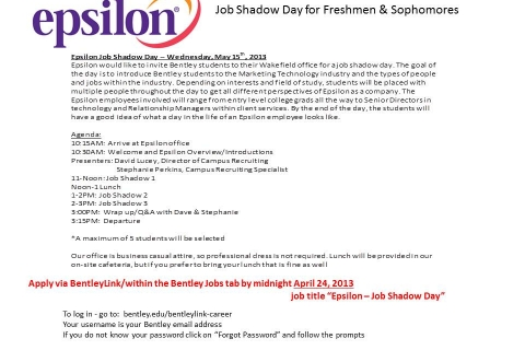 Epsilon Job Shadow