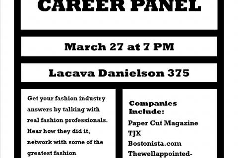 Fashion Career Panel Flyer