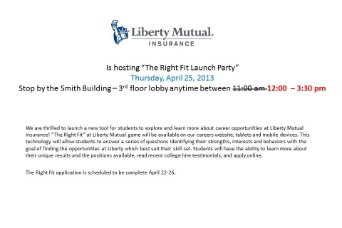 Liberty Mutual UPDATED – Open Event Table