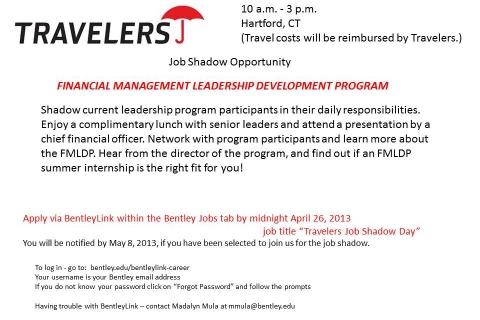 Travelers  Job Shadow Flyer