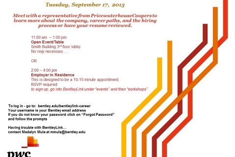 PWC Sept 17 Open Event Table and EIR