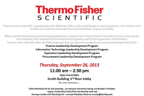Thermo Fisher Scientific Open Event-Table UPDATED
