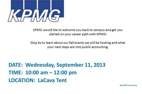 KPMG Open Event