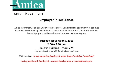 Amica – Employer in Residence