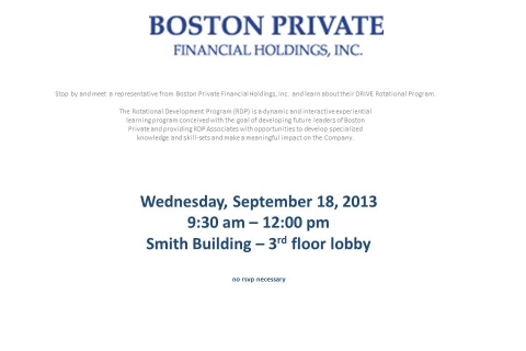 Boston Private Financial Holdings – Open Event Table