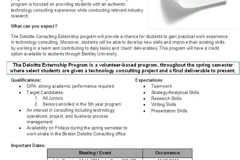 Deloitte Externship Program FY14 Flyer