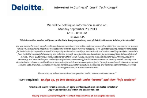 Deloitte – FAS Open Info Session