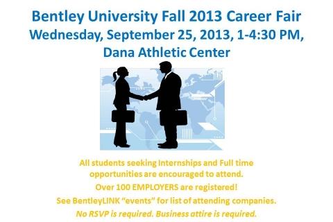 Fall 2013 Career Fair