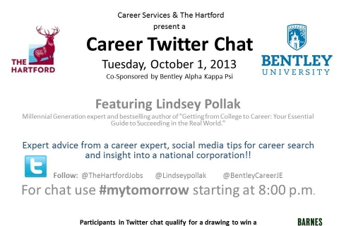 Lindsey Pollak  and The Hartford fall 2013 Twitter Convo (2)