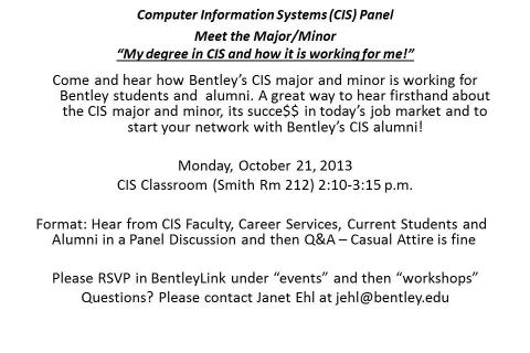 CIS panel October 21 2013 Flyer