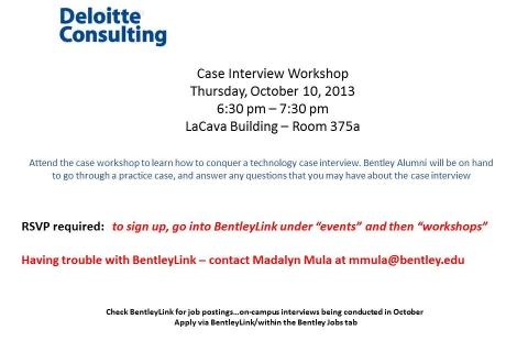 Deloitte Consulting – Case Interview Workshop